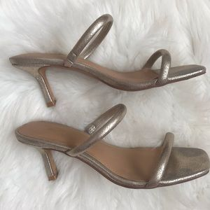Express Double Band Heeled Sandals Size 8.5US